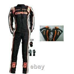 Crg Black Go Kart Race Suit Cik Fia Niveau 2+shoes+gloves+balaclava