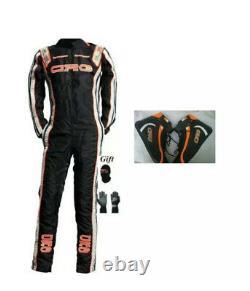 Crg Go Kart Black Race Suite Cik/fia Niveau-2 Approuvé Avec Des Cadeaux Gratuits