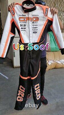 Crg Go Kart Race Suit Cik Fia Niveau 2 Approuvé Avec Chaussures Gants Cadeau Balaclava