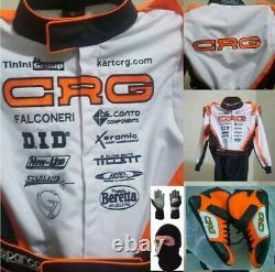 Crg Go Kart Race Suit Cik/fia Niveau 2 Approuvé Avec Chaussures & Gants