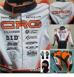 Crg Go Kart Race Suit Cik/fia Niveau 2 Approuvé Avec Des Chaussures Et Des Gants Assortis