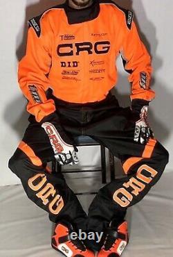 Crg Go Kart Race Suite Cik/fia-level-2 Approuvé Avec Des Chaussures Et Des Gants Cadeau Gratuit