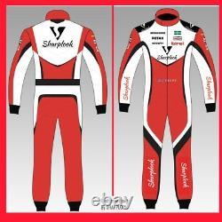 Custom Go Kart Race Suit Sublimation Imprimé