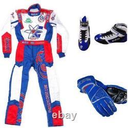 Energy Go Kart Race Suit Cik Fia Niveau 2 Chaussures Approuvées Avec Gants Cadeaux Gratuits