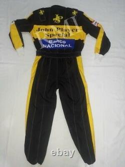 F1 Ayrton Senna 1985 Costume De Course Imprimé/go Kart/karting Race/racing Suit