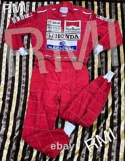 F1 Ayrton Senna 1991 Broderie Patchs Costume Go Kart / Karting Race / Racing Suit