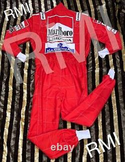 F1 Ayrton Senna 1991 Marlboro Cordura Costume Imprimé / Go Kart / Karting Race / Racing