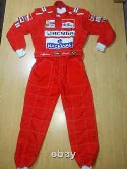 F1 Ayrton Senna 1991 Sublimation Imprimé Costume De Course Go Kart, En Toutes Tailles