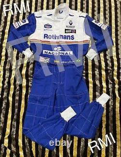 F1 Ayrton Senna 1994 Broderie Patchs Costume Go Kart / Karting Race / Racing Suit