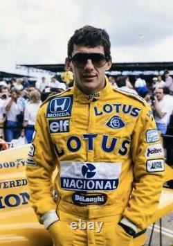F1 Ayrton Senna Lotus Costume Imprimé Go Kart/karting Race/racing Suit