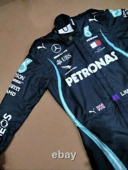 F1 L. Hamilton 2020 Style Costume De Course Imprimé Go Kart/karting Race/racing Suit
