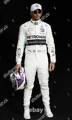 F1 Lewis Hamilton 2020 Mercedes-benz Dernier Style Imprimé Costume De Course / Karting