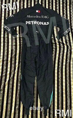F1 Lewis Hamilton Black Mercedes-benz Dernier Style Imprimé Costume De Course / Karting
