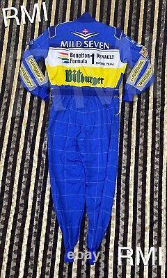 F1 Michael Schumacher 1995 Patchs Brodés Costume Go Kart / Karting Race Suit
