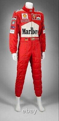 F1 Michael Schumacher 2001 Patchs Brodés Costume Go Kart / Karting Race Suit