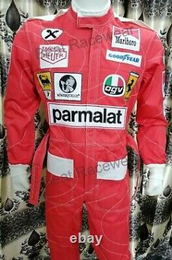 F1 Niki Lauda 1976 Réplique Patchs Brodés Aller Costume De Course De Kart, Dans Toutes Les Tailles