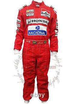 F1 Racing Aryton Senna Racing Kart Suit 1991 Niveau 2 Approuvé