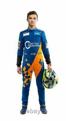 F1 Team Mclaren 2019 Sparco Imprimé Costume De Course Go Kart, En Toutes Tailles