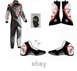 Go Kart Kart Race Suite Cik/fia Niveau-2 Avec Des Gants Chaussures Et Balaclava