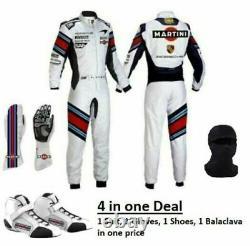 Go Kart Martini Race Suit Cik Fia Niveau 2 Approuvé Avec Karting Shoes & Gloves