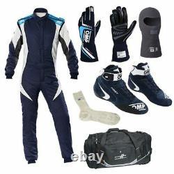 Go Kart Race Suit Avec Gants, Chaussures Balaclava, Chaussettes Et Sac