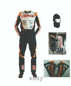 Go Kart Race Suit Avec Gants, Chaussures Et Balaclava Gratuits