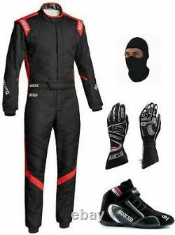 Go Kart Race Suit Cik Fia Niveau 2 Chaussures Approuvées Avec Gants Cadeaux Gratuits