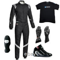 Go Kart Race Suit Cik Fia Niveau 2 Chaussures Approuvées Et Kart Avec Gants Et T-shirt