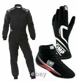 Go Kart Race Suit Cik/fia Niveau 2 Approuvé Avec Des Chaussures Et Des Gants