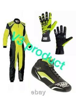 Go Kart Race Suit Cik/fia Niveau 2 Approuvé Avec Des Chaussures Et Des Gants Assortis