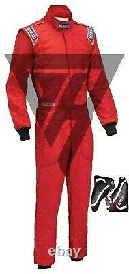 Go Kart Race Suit Pack Super Kart Avec Bottes, Gants Et Cadeau Gratuit Mega