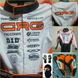 Go Kart Racing Costume Avec Gants Et Chaussures Cadeau Gratuit À L'intérieur