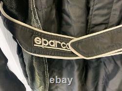 Go Kart Sparco X-light Race Suit Noir / Blanc 60 Grande Course De Karting Racing