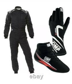 Go-kart-race-suit-cik Fia-niveau-2-approuvé-avec-chaussures-glove-et-free-balaclava