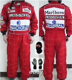 Honda Marlboro Mclaren Kart Costume De Course Cik/fia Niveau 2 (cadeaux Gratuits)
