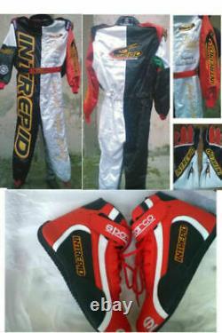 Interpid Go Kart Race Suit Cik/fia Niveau 2 Approuvé Avec Des Chaussures Et Des Gants Assortis