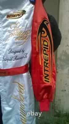 Intrepid Go Kart Race Suit Cik Fia Niveau 2 Approuvé Avec Des Chaussures Et Des Cadeaux Gratuits