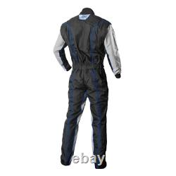 K1 Racegear 10-gk2-b-lxl Cik/fia Niveau 2 Combinaison De Course Kart Approuvée Grande (bleu)