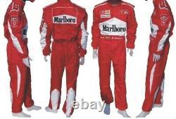 M. Schumasher Costumes De Course De Go Kart Imprimés, En Toutes Tailles