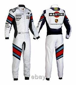 Martini Go Kart Race Suit Cik/fia Niveau 2 Approuvé Avec Des Cadeaux Gratuits