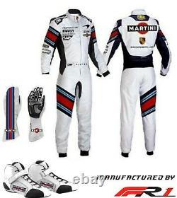 Martini Go Kart Racing Costume Impression Avec Chaussures Et Gants Par Fr1