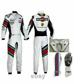 Martini-go Kart Racing Suit With Shoes & Gloves Sublimated Cik Fia Niveau 2