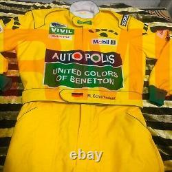 Miachael Schumacher 1992 Combinaison De Course Imprimée / Benetton F1/go Kart/karting Suit