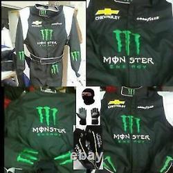 Monster Energy Go Kart Race Suit Cik/fia Niveau 2 Approuvé Avec Chaussures & Gants