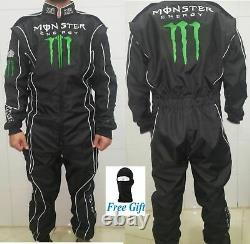 Monster Go Kart Race Suit Cik/fia Niveau 2 Approuvé Avec Des Cadeaux Gratuits