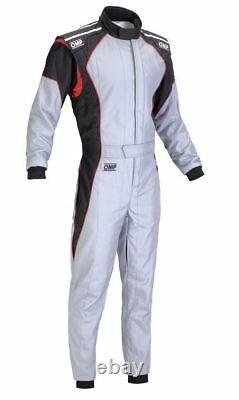 Omp Ks-3 Costume Gris Noir Rouge Taille 58 Go Kart Karting Racing Overall Cik Stock