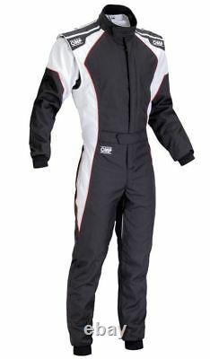 Omp Ks-3 Costume Noir Blanc Taille 60 Kart Racing Sport Classement Général Cik 3 Couches Stock