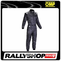 Omp Ks-4 Costume Black Size M 50-52 Karting Racing Global Cik-fia 4 Couches Stock