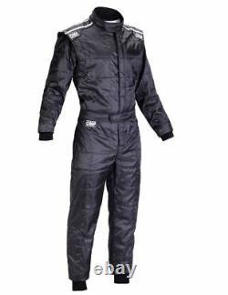 Omp Ks-4 Costume Black Size XL 58-60 Karting Racing Classement Général Cik-fia 4 Couches Stock