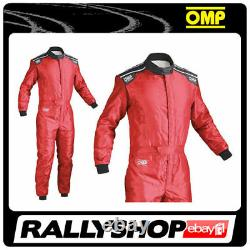 Omp Ks-4 Costume Red Size S 46-48 Go Karting Racing Overall Cik-fia 4 Couches Stock